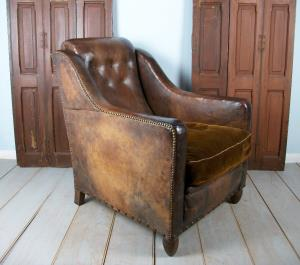 Leather 1930s Deco Club Chair
