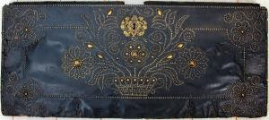 Leather Clad Coffer Wedding Panel with Nailhead details