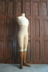 Mannequin by Stockman of Paris in ivory white silk