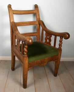 Oak Irish Open Armchair