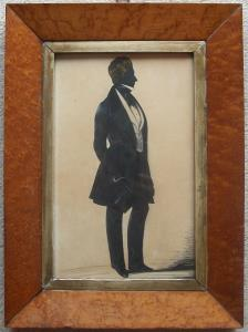 Silhouette in Maple Frame by F. Frith