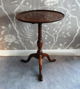 Antique Mahogany Round Occasional Table