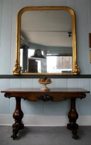 Victorian Gilt Over Mantel Mirror