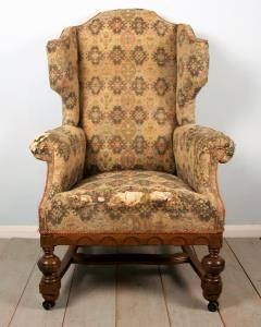 William and Mary Wing Back Armchair