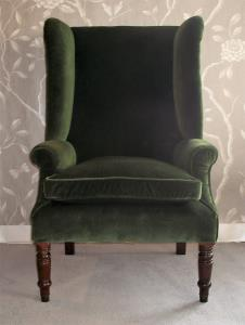 georgian wing back armchair