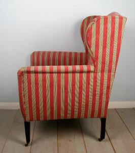 Edwardian Wing Back Bergere Armchair