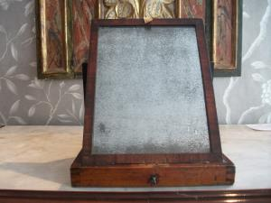 Georgian Mahogany Campaign Box Mirror
