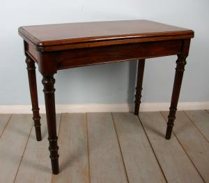 A Victorian Mahogany Card or Games Table