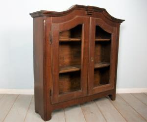 18th century italian walnut bookcase cabinet cupboard