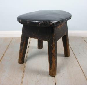 small leather seat milking stool