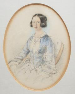 portrait watercolour of a lady