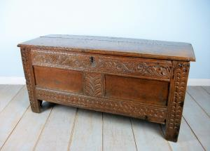small 17th century oak carved coffer (7).JPG
