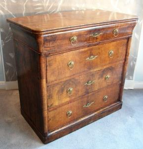 walnut small chest of drawers