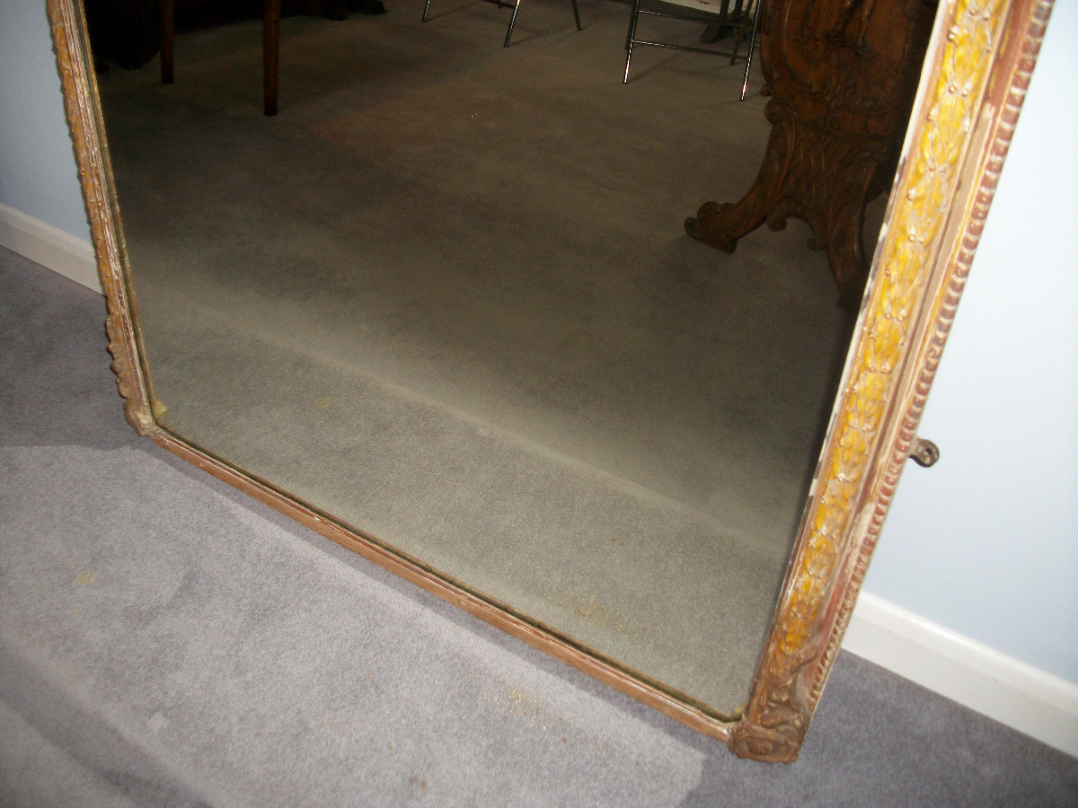 Very Large Overmantle Mirror