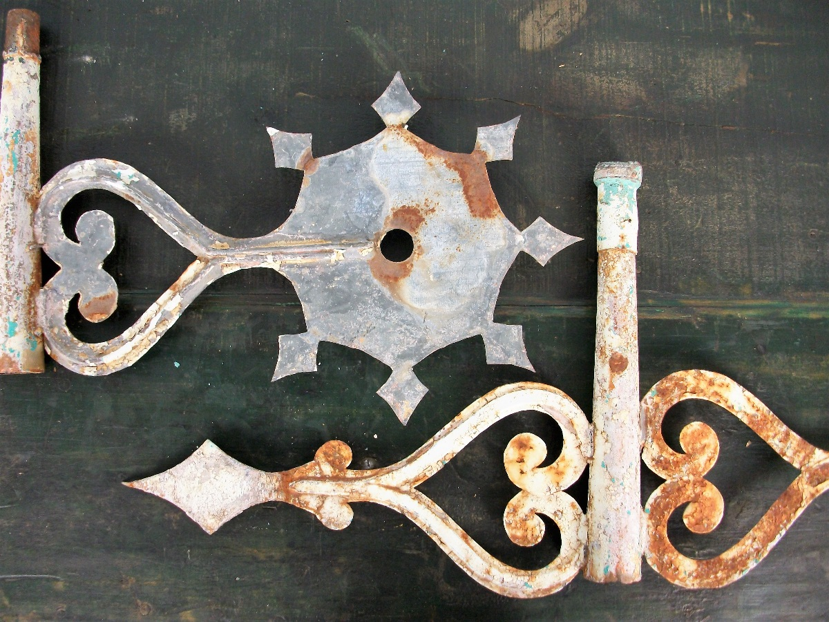 antique church scroll weather vanes